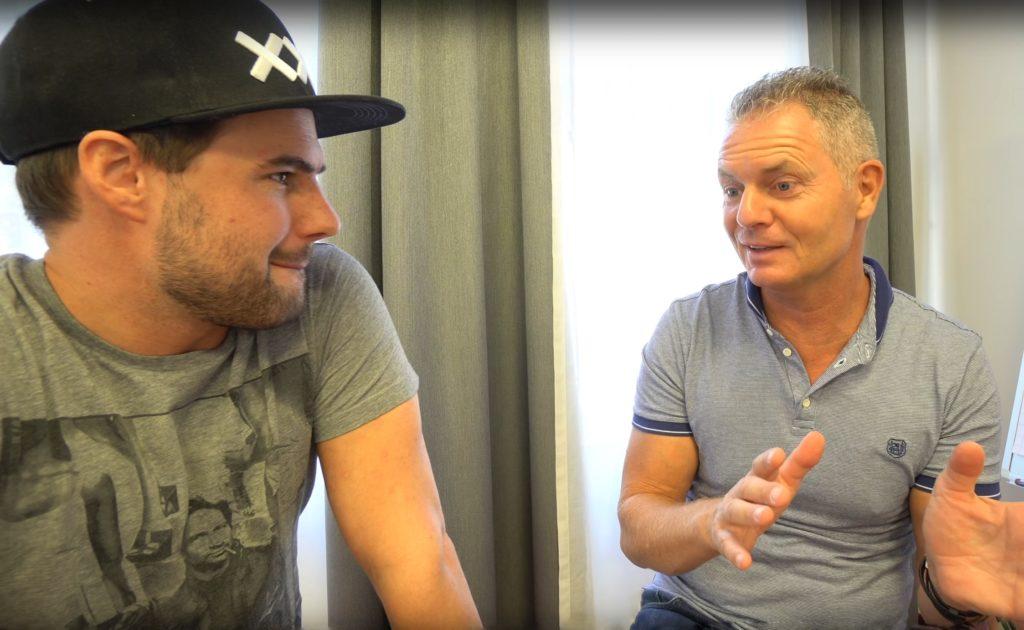 Dirk Kreuter mit Bastian Pfaff